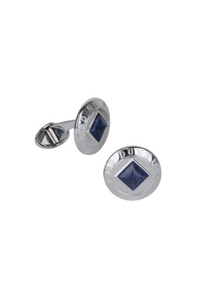 Dunhill - Blue Mother Of Pearl Coin Cuff Links