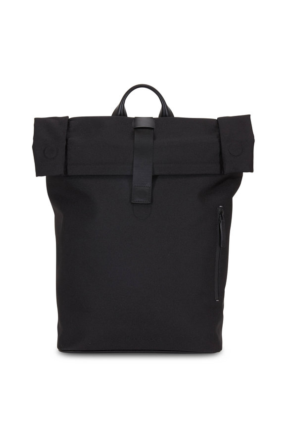Troubadour Black Canvas Baseball Rucksack