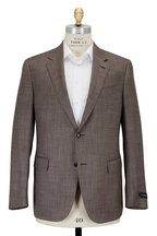 Ermenegildo Zegna - Brown Basketweave Wool & Silk Sportcoat
