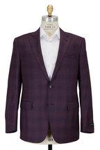 Ermenegildo Zegna - Purple Wool & Silk Plaid Sportcoat