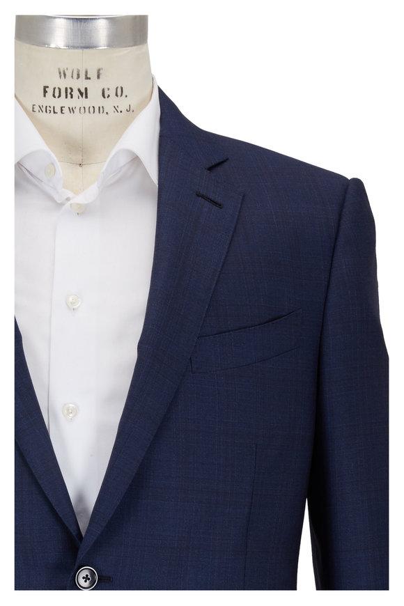 Ermenegildo Zegna Tonal Blue Wool Suit