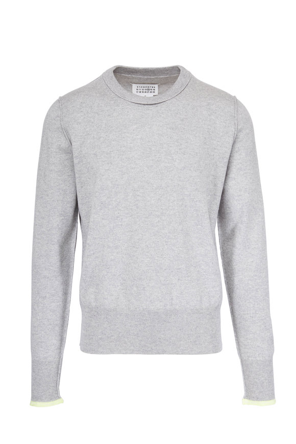 Maison Margiela Grey With Yellow Tipping Cashmere Sweater