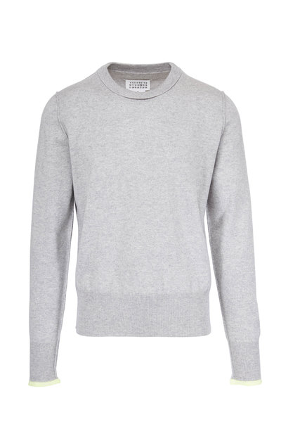 Maison Margiela - Grey With Yellow Tipping Cashmere Sweater