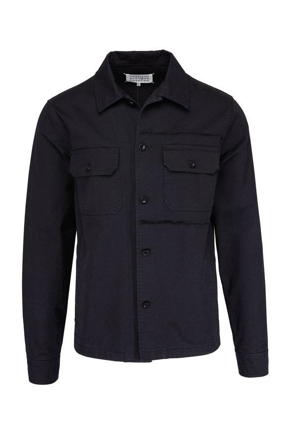 Maison Margiela Black Cotton Shirt Jacket
