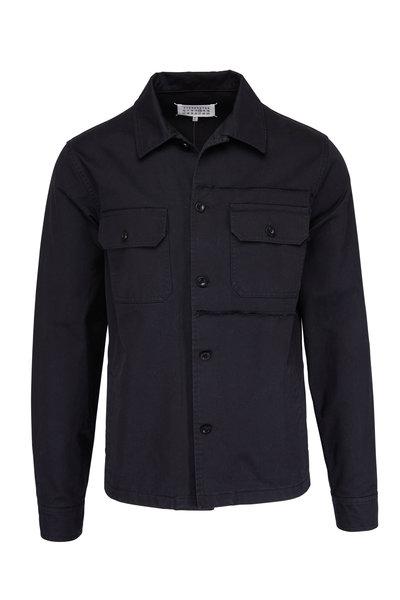 Maison Margiela - Black Cotton Shirt Jacket