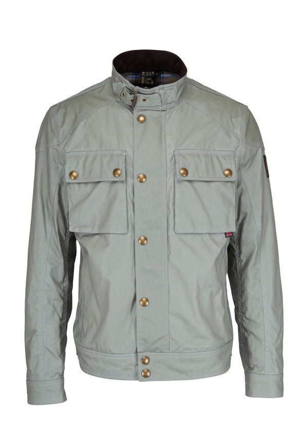 Belstaff Racemaster Green Waxed Cotton Jacket
