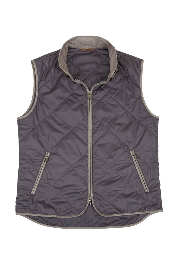 Waterville Black Quilted Vest