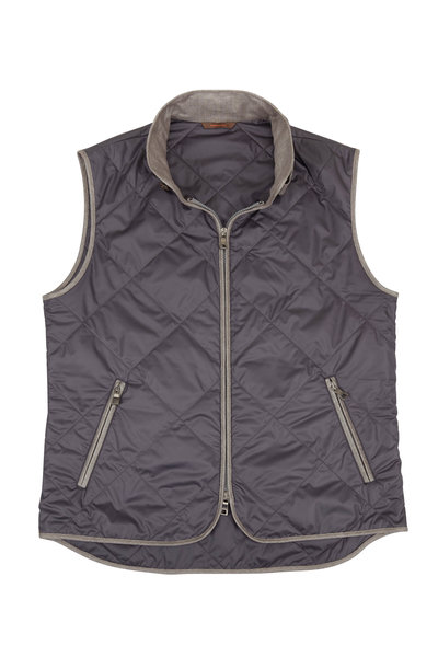 Waterville - Black Quilted Vest