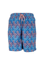 Peter Millar - Seaside Navy Jellies Print Swim Trunks