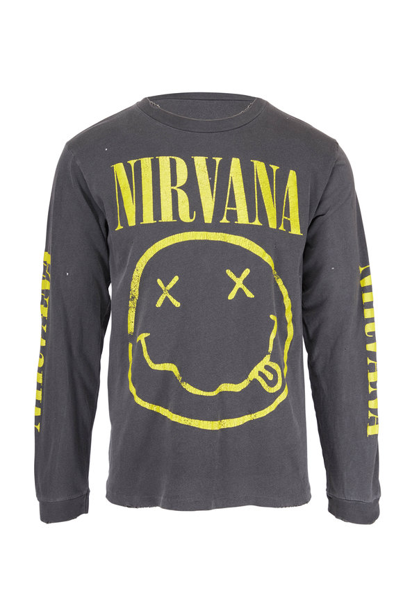 Madeworn Nirvana Black Long Sleeve T-Shirt