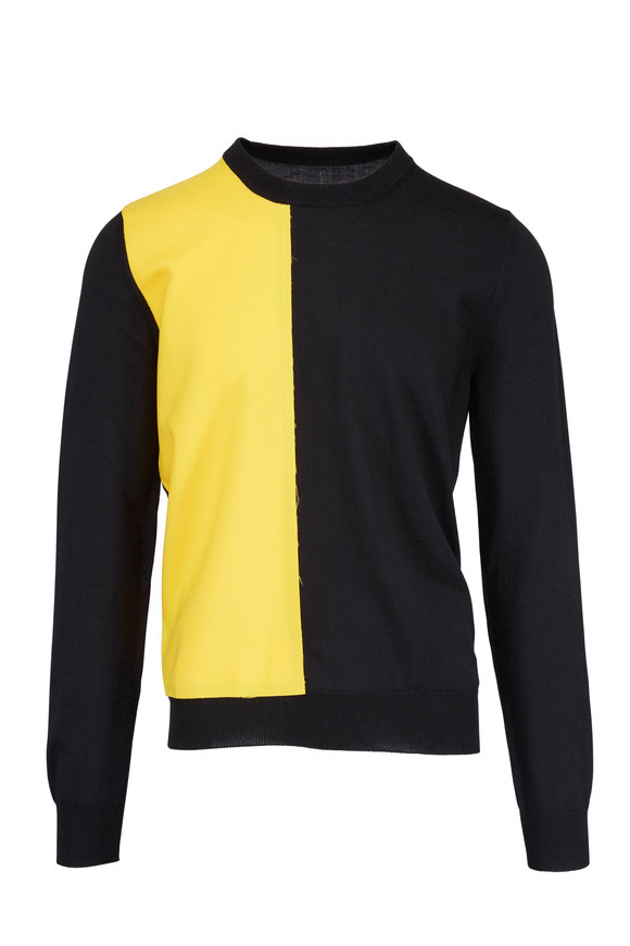 Maison Margiela Black & Yellow Color Block Sweater