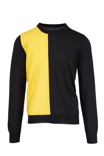 Maison Margiela - Black & Yellow Color Block Sweater