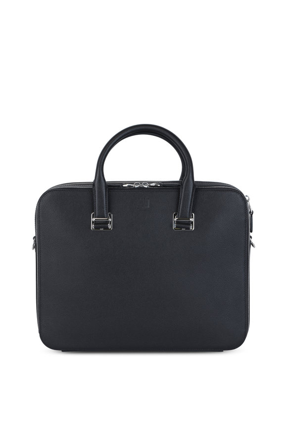 Dunhill Cadogan Black Leather Double Document Case