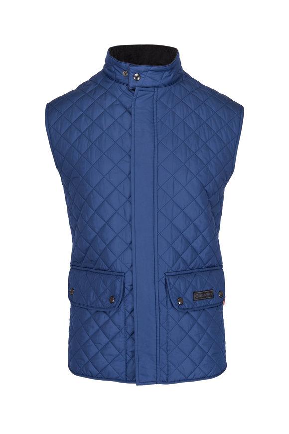 Belstaff Lagoon Blue Quilted Waistcoat