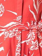 Carolina Herrera - Red Printed Short Sleeve Shirtdress