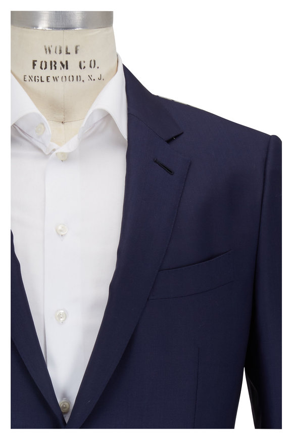 Ermenegildo Zegna Solid Navy Wool & Silk Suit