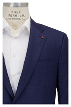 Isaia - Blue Tonal Pattern Wool Suit
