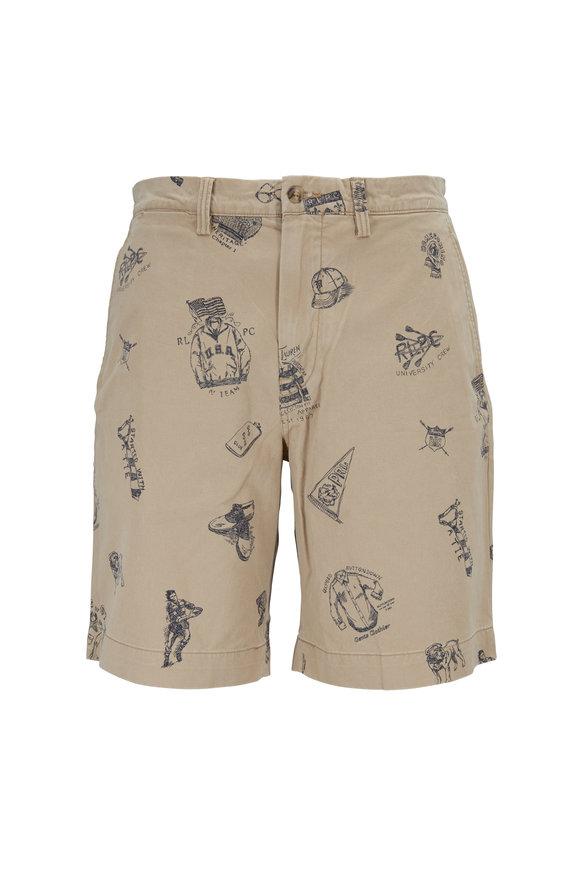 Polo Ralph Lauren Tan Doodle Print Classic Fit Shorts