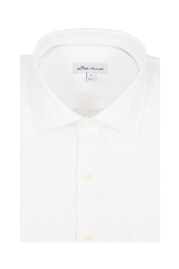 Peter Millar White Linen Sport Shirt