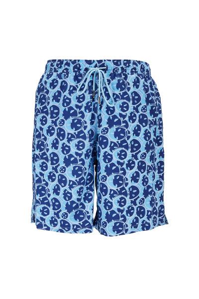 Peter Millar - Seaside Collection Blue Sand Dollar Swim Trunks