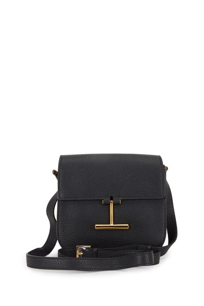 Tom Ford - Tara Black Leather T Clasp Mini Crossbody