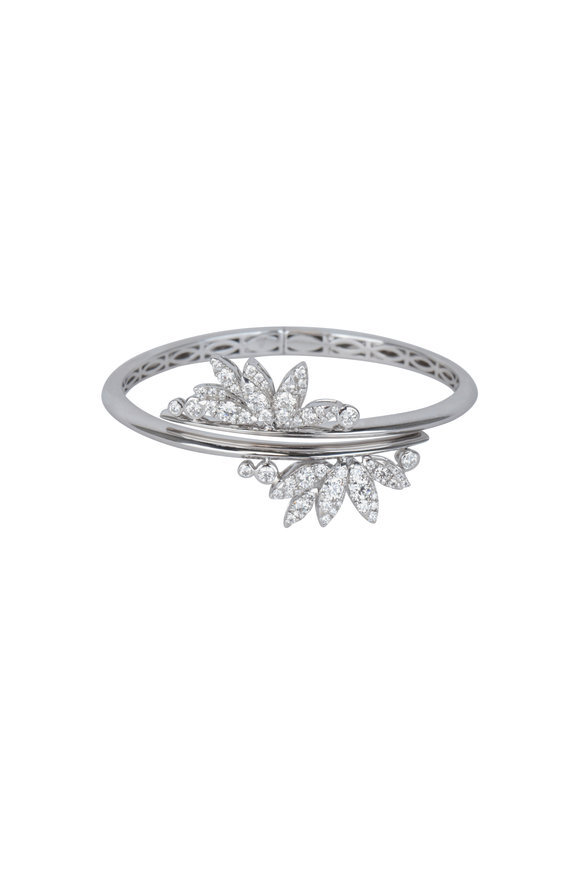 Stephen Webster 18K White Gold Kite Feathers Bangle