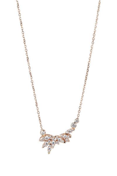 Stephen Webster - 18K Rose Gold Kite Feather Pendant Necklace