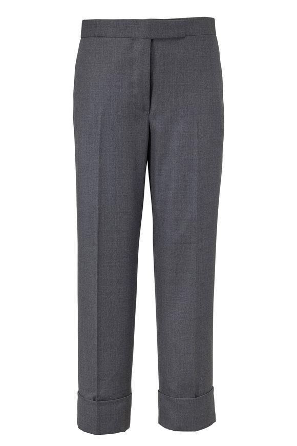 Thom Browne Classic Medium Gray Wool Cuffed Pant