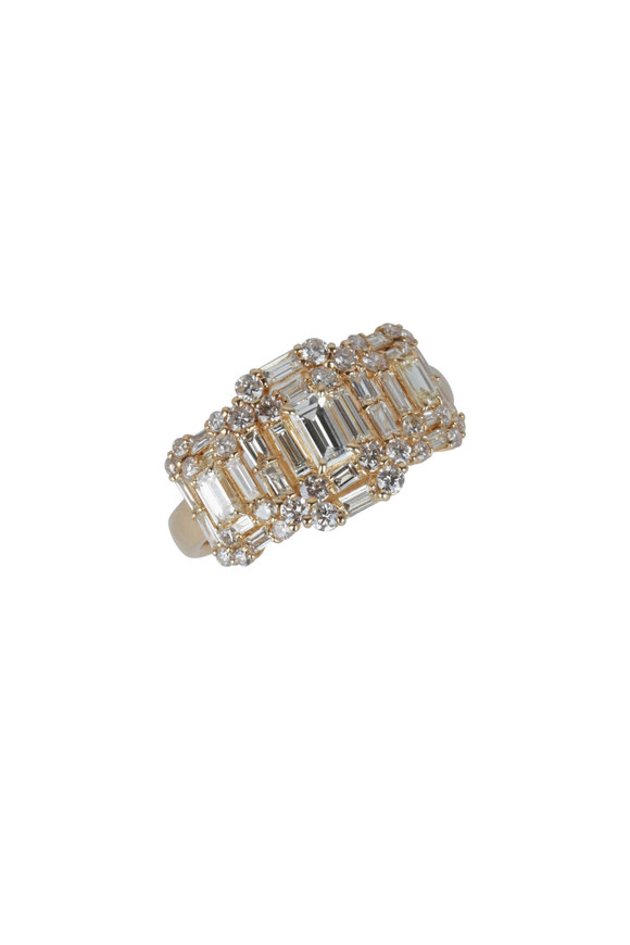 Kai Linz 18K Yellow Gold Multi Baguette Diamond Ring