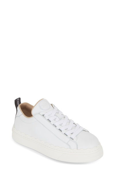 Chloé - White Leather Scalloped Sneaker