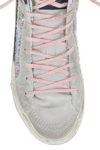 Golden Goose - Slide Multicolor Paillettes High Top Sneaker
