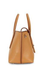 Tod's - New Joy Beige Pebbled Leather Mini Hobo Bag