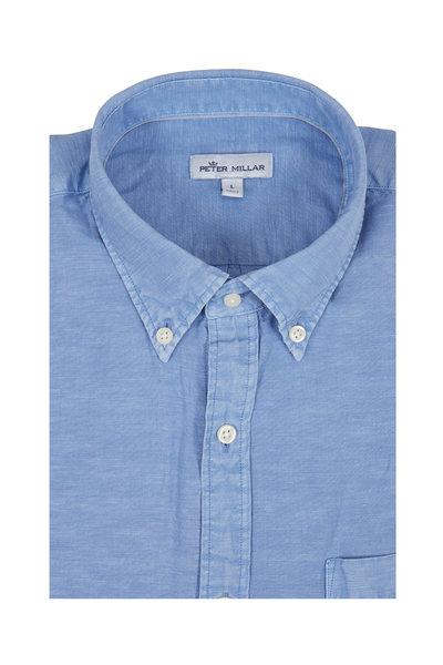 Peter Millar - Light Blue Garment Dyed Sport Shirt