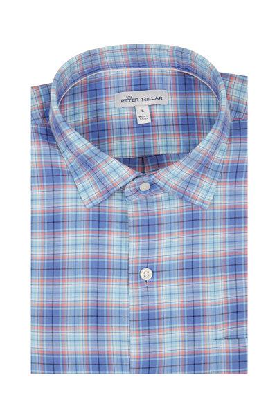 Peter Millar - Whitby Blue Coast Plaid Sport Shirt
