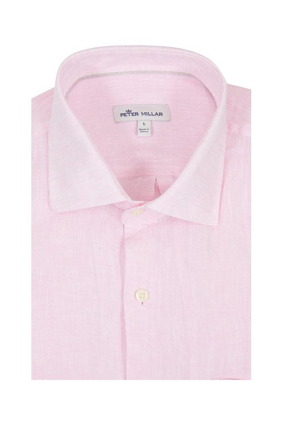 Peter Millar  Light Pink Linen Sport Shirt