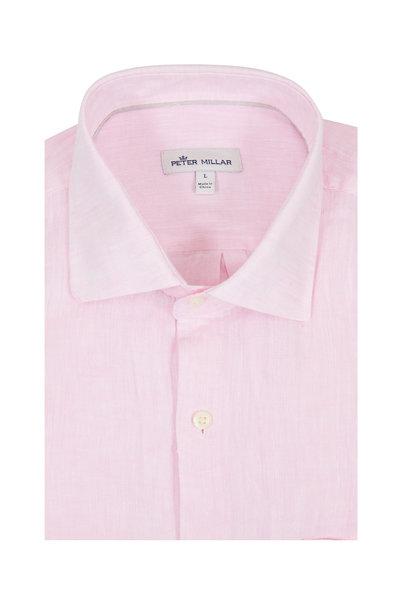 Peter Millar -  Light Pink Linen Sport Shirt