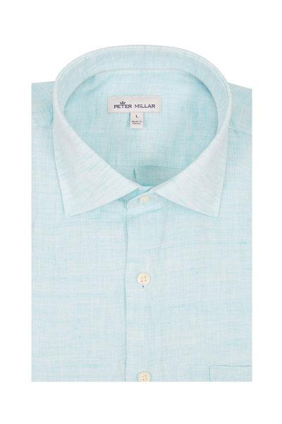 Peter Millar - Aqua Linen Sport Shirt