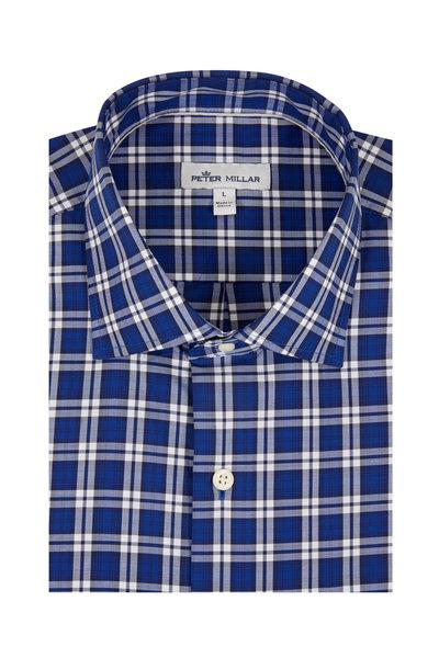 Peter Millar - Santos Navy Blue Plaid Sport Shirt
