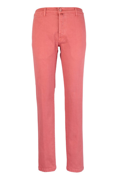 Kiton - Red Stretch Cotton Five Pocket Pant