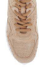 Tod's - Gomma Beige Suede Sneaker