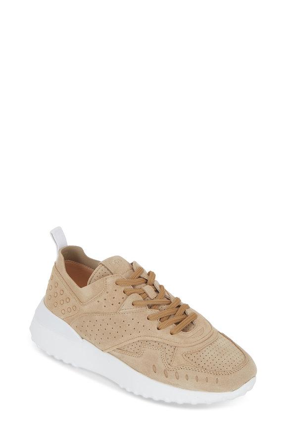 Tod's Gomma Beige Suede Sneaker
