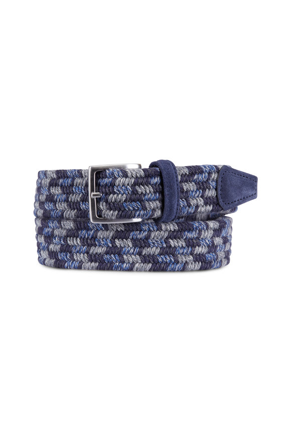 Anderson's Blue & Grey Braided Wool Belt