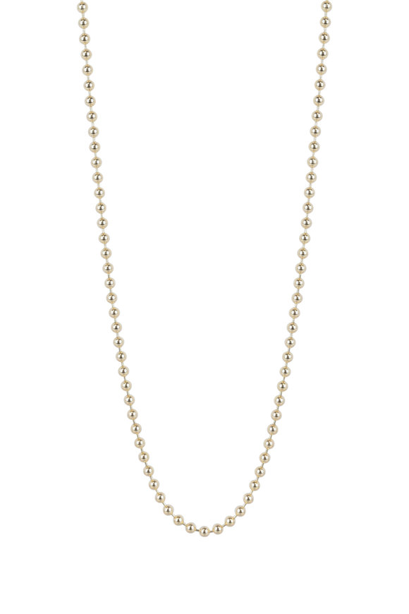 Julez Bryant 14K Yellow Gold Ball Chain Necklace