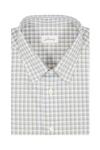 Brioni - Olive Green Plaid Sport Shirt