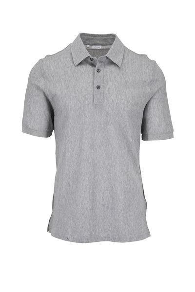 Brioni - Light Gray Textured Polo