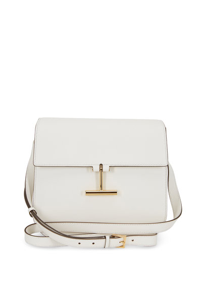 Tom Ford - Tara Chalk Leather T Clasp Large Crossbody