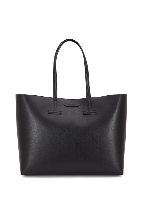 Tom Ford Black Saffiano Leather Medium T Tote