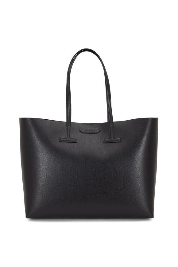 Tom Ford Black Saffiano Leather Medium T Tote
