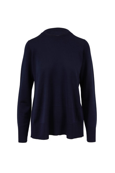 The Row - Sebellia Dark Navy Knit Cashmere Sweater
