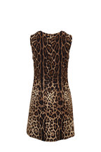 Dolce & Gabbana - Black & Brown Leopard Mini Dress